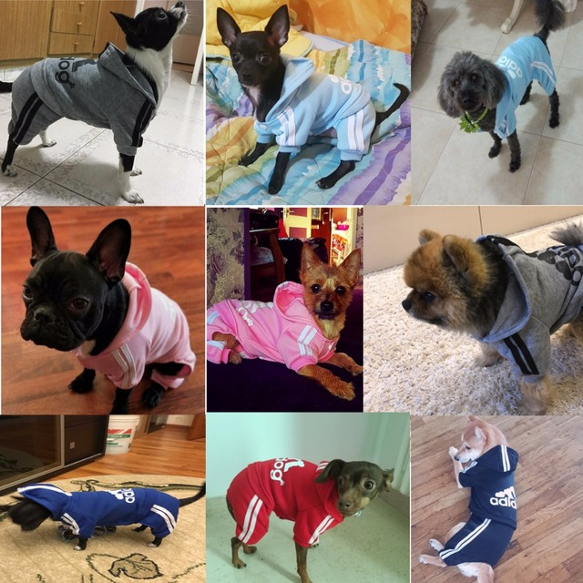 Winter Warm Pet Dog Clothes Four-legs Hoodie Small Dog Sweaters Coats Cotton Puppy Clothing Outfit for Chihuahua XS-2XL 2