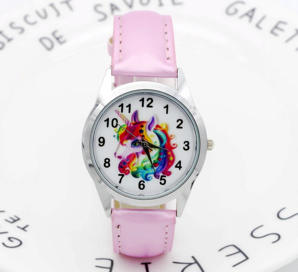 Christmas Gift Cute Unicorn Girl's Boy's Children Watch SportS Jelly Leather Watch HOT Cartoon Watch New Fashion Kids Watch children claus watch kids christmas watch jelly silicone christmas gift causal women watches saat montre enfant