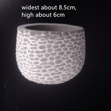 Stone Brick Wall Style Cement Pot Mould DIY Concrete flowerpot making silicone mold