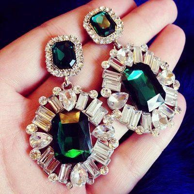 Moon Green Shourouk Flower Acrylic Party Office Statement Drop Earrings 2015 New Fashion Jewelry For Women Gift Wholesale E73