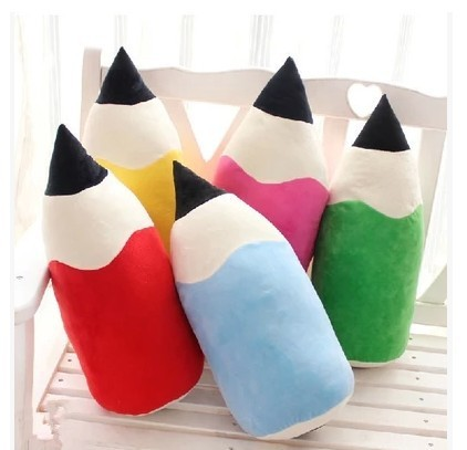 New hot Colorful  cartoon pencil pillow Doll creative Multi-colored pencil plush toys 50cm hot sell Boy & Girl birthday gift