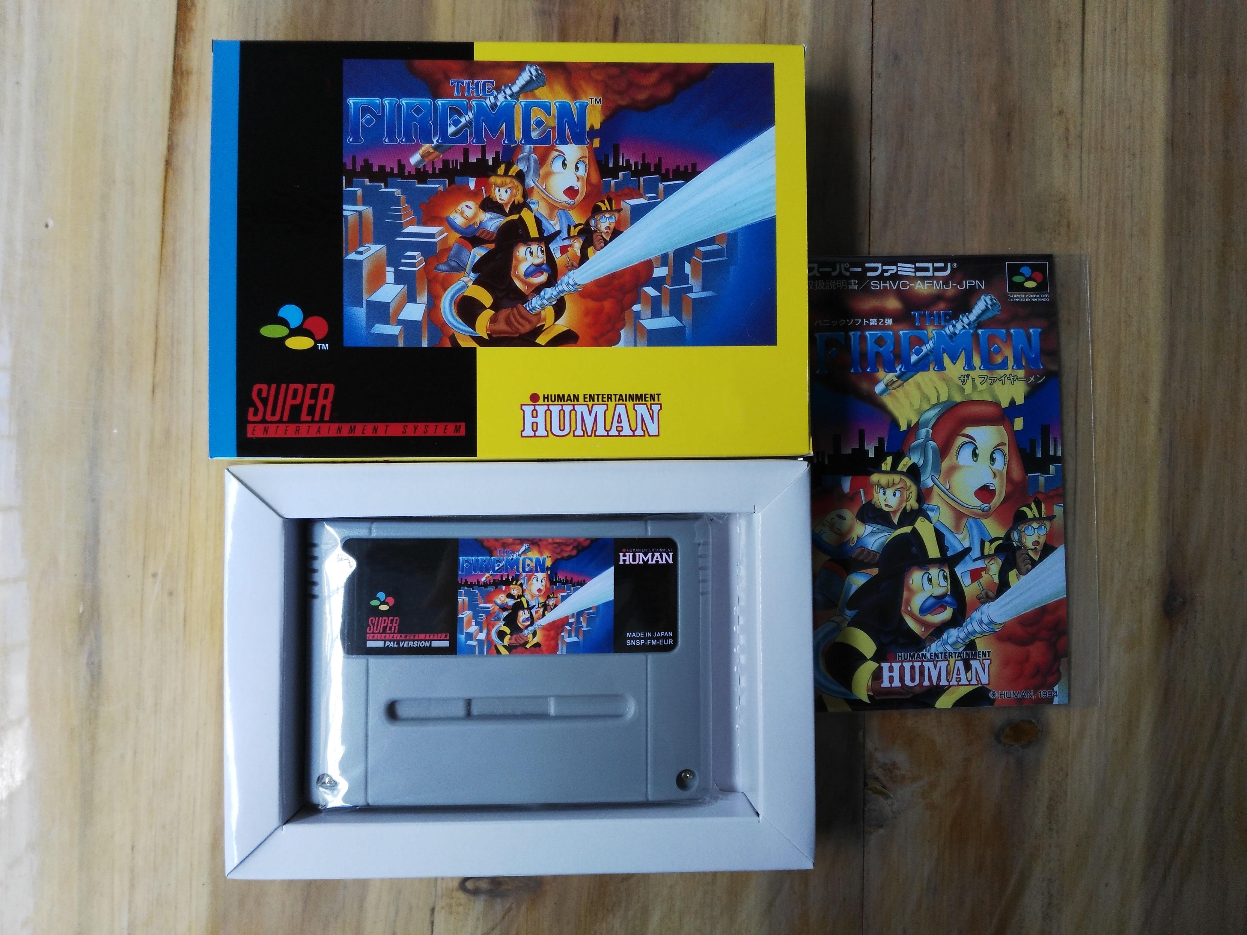 16Bit Games The Firemen PAL Version Box Manual Cartridge