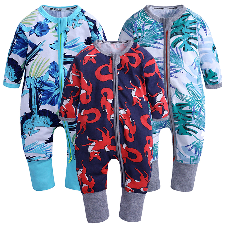 Newborn Baby Clothes 3PCS/Lot Baby   Rompers   Long Sleeve Cotton Baby Boy Clothes Infant High Quality Baby Jumpsuit 0-24M SR418