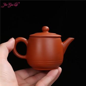 JIA-GUI LUO de 110ML púrpura arcilla yixing tetera tradicional juego de té chino té oolong portátil juego de té de viaje H029