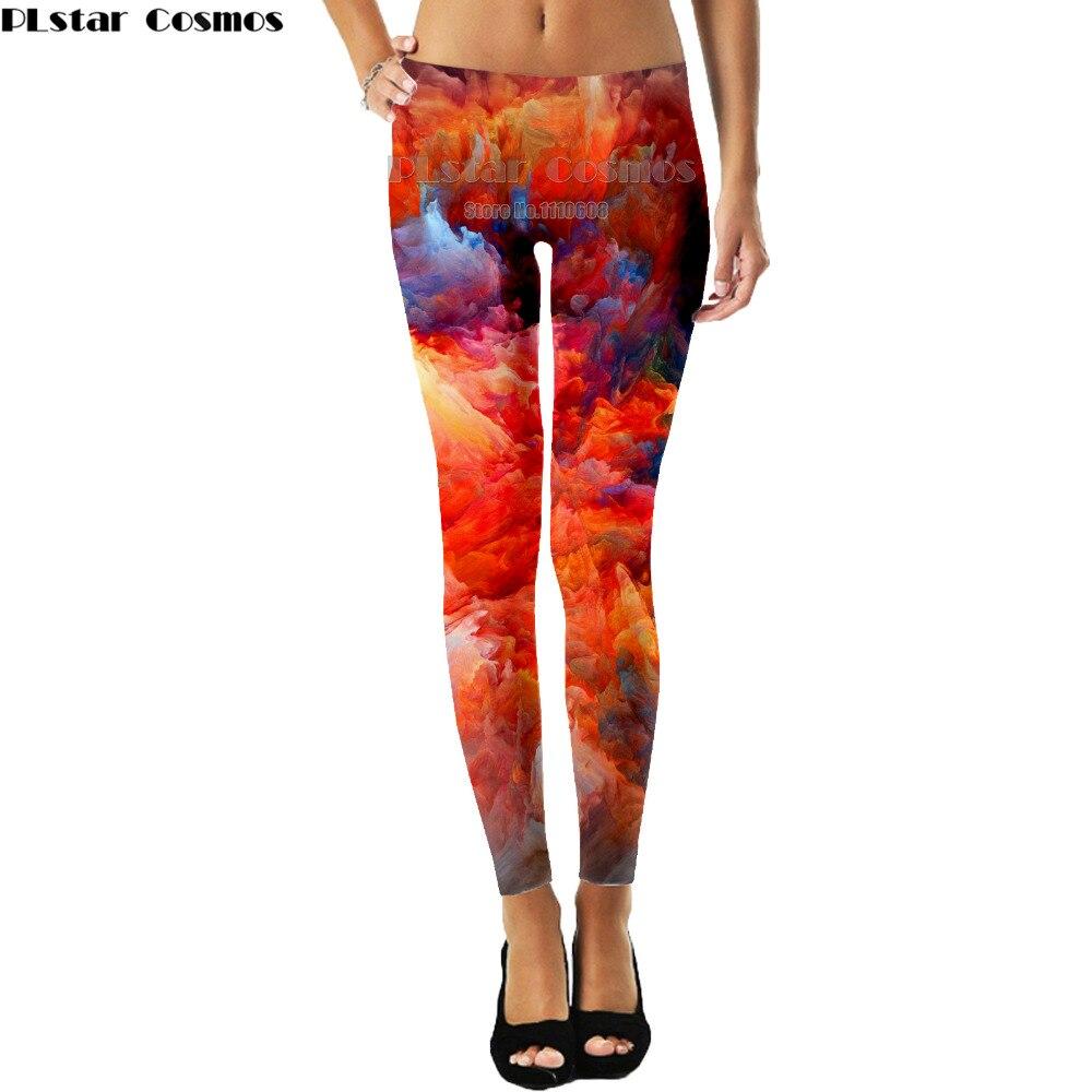 PLstar Cosmos Brands Printed Women Legging Colorful Triangles Rainbow Legins High Waist Elastic Leggins Silm Women Pants S -3XL