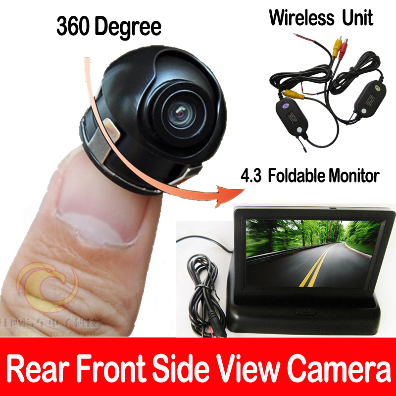 mini parking wifi camera wireless sony ccd car suv mpv front side view camera 4 3 tft lcd color. Black Bedroom Furniture Sets. Home Design Ideas