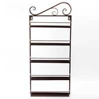 New Brown Nail Polish Wall Mount Rack Stand Organizer Display Metal Up To 50 Bottles Storage