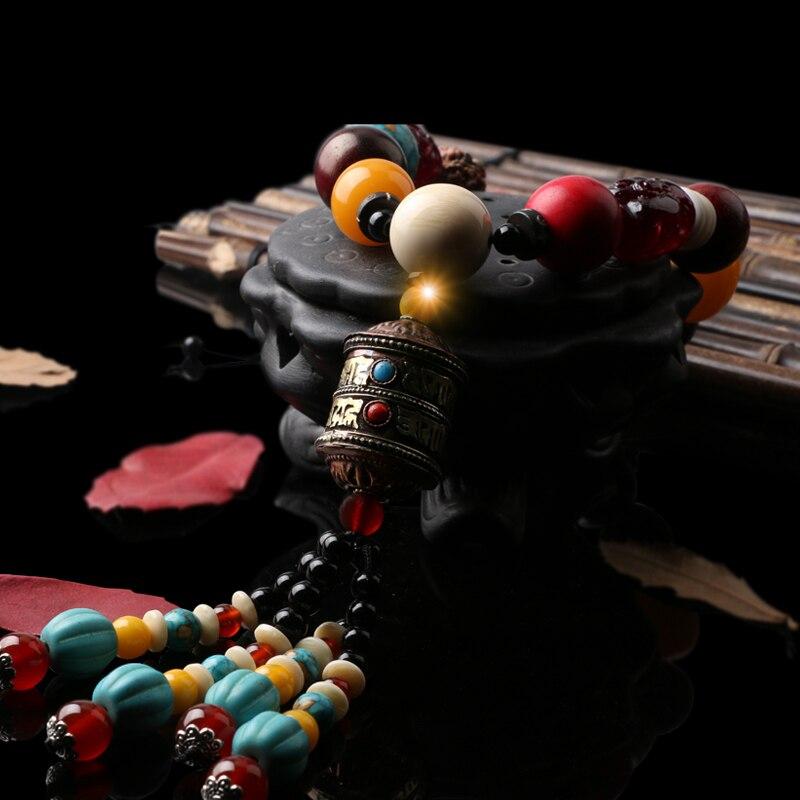 DREAMCAR voiture pendentif Style chinois graine Bodhi Agate naturelle voiture accessoires voiture rétroviseur suspendus ornements
