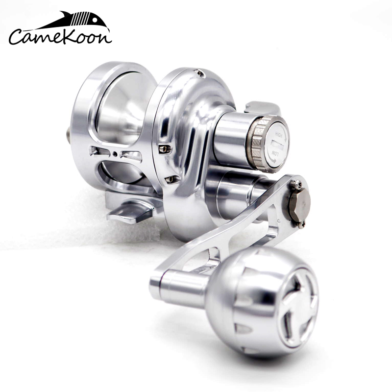 CAMEKOON TR100 Full Metal Conventional Saltwater Lever Drag Fishing Reel 28KG Max Drag Deep Sea Big Game Trolling Reel