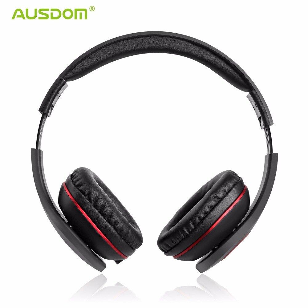 Ausdom AH862 Wired Cuffie Senza Fili Auricolare Bluetooth Chiamate in  Vivavoce con Il Mic Morbido Paraorecchie ae73ff945d16