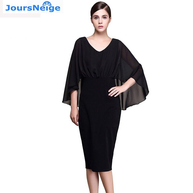 2017 Dámská nová móda Tříčtvrteční rukáv O krk Solid Wear WORK Bodycon Dress Vestidos Black Pencil Dress