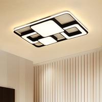 Luzes de teto modernas lâmpada led para sala estar quarto luminária superfície montado retângulo moderno lâmpada do teto para crianças|Luzes de teto| |  -