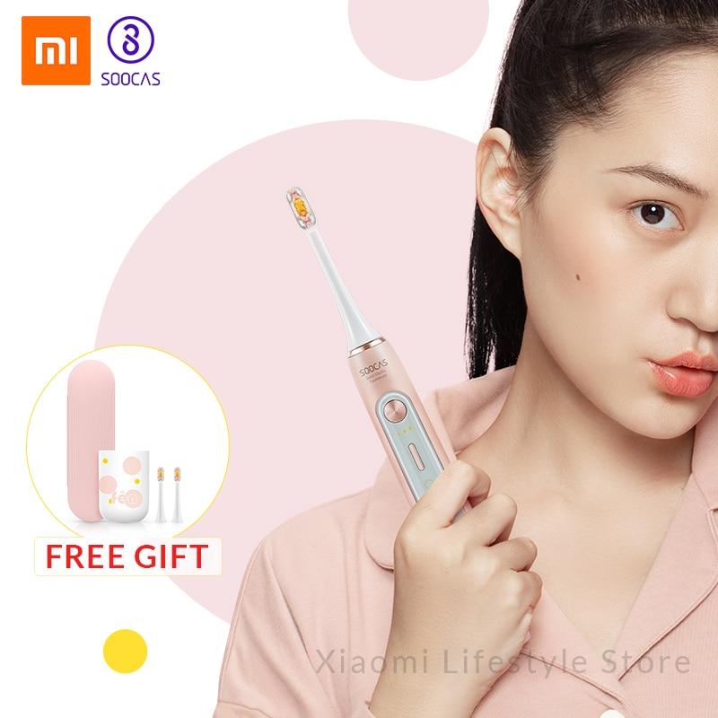 Xiaomi Mijia Soocas X5 Atualizado Para Adultos À Prova D' Água Ultra sonic sonic escova de Dentes Elétrica escova de Dentes automático Recarregável USB