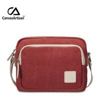 Canvasartisan top qualité femmes messager de sac pratique toile daily voyage solide couleur hangbag bandoulière petit sacs à provisions