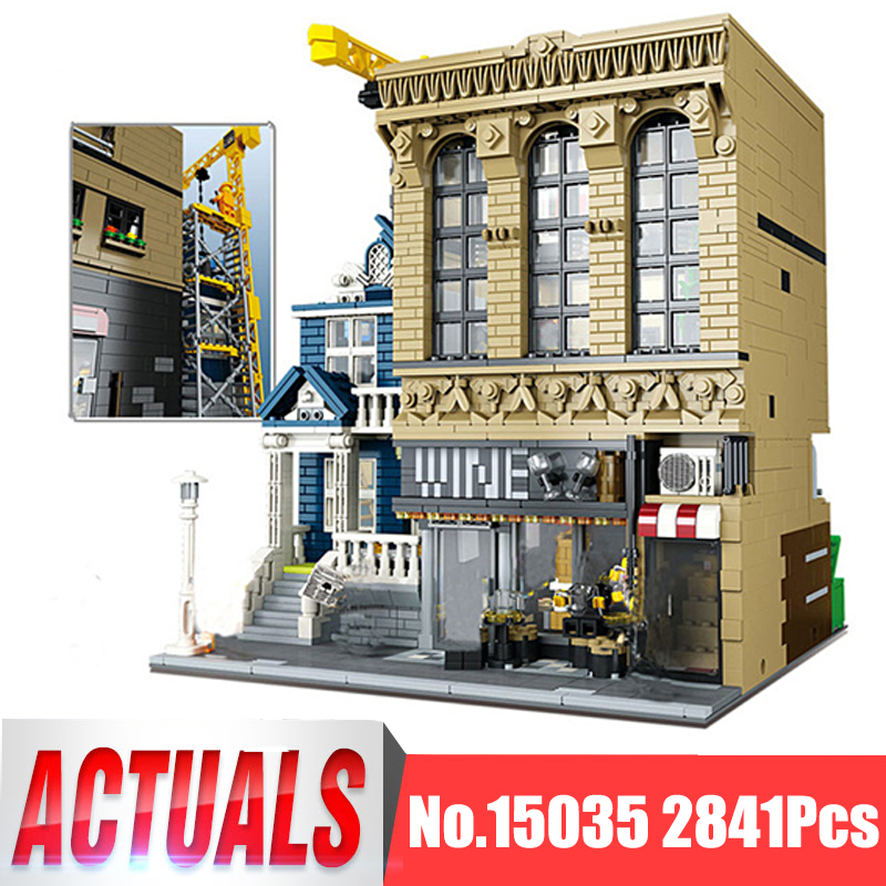 Lepin City Street MOC Figures 15035 2841Pcs The Bars and Financial Companie Model Building Kits Blocks Bricks Toys For Children