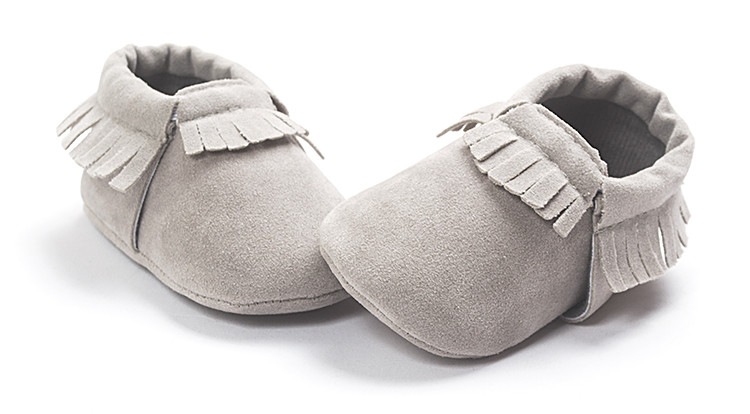 baby moccasins grey color baby girls boys shoes First Walkers hot moccs Soft Bottom Tassels Newborn Shoes Bebe bx163