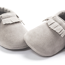 baby moccasins grey color baby girls boys shoes First Walker