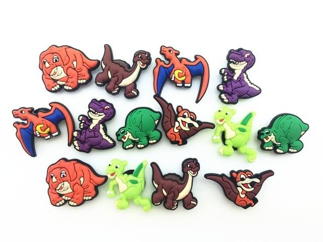 2930967286859 14 Pcs PVC Dinosaur Shoe accessories Shoe Charms Shoe Decorations for Croc  Bracelet Wristband Kid Gift