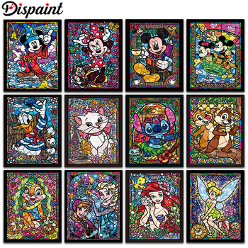 Dispaint Full Square/Round Drill 5D DIY Diamond Painting Cartoon characters 3D Embroidery Cross Stitch 3D Home Decor Gift dispaint full square round drill 5d diy diamond painting mandala scenery 3d embroidery cross stitch 5d home decor a10820