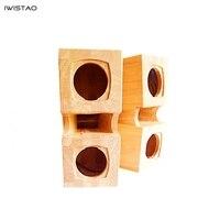 Iwistao HIFI 3 дюйма полный спектр пустой корпус динамика приседать параллельный двойной лабиринт плюс поверхность сочетание рога твердой древе