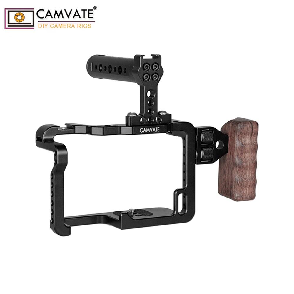 CAMVATE GH5 полный комплект клетка с ручками и крепления для обуви C1909 аксессуары для фотокамеры