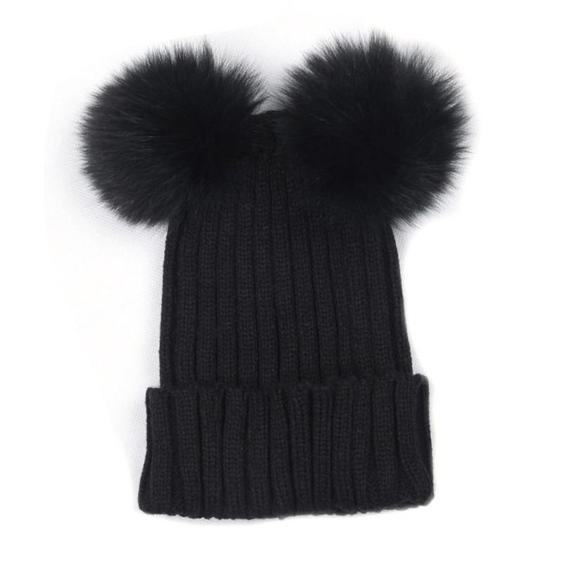 Модная одежда для девочек Плетеный крючком шерсть вязать шапочки Берет лыж мяч Кепки Багги женская зимняя теплая шапка