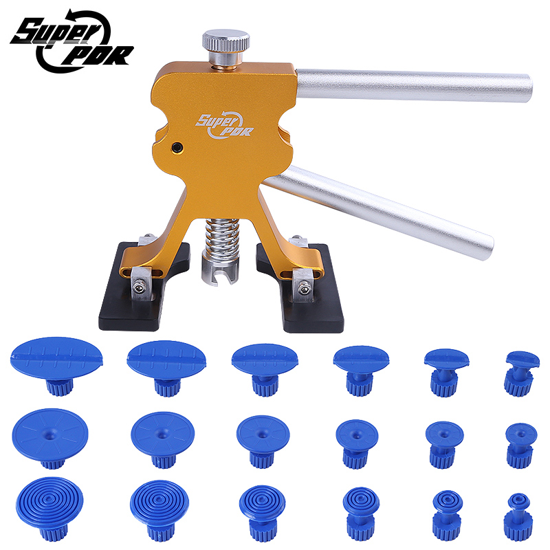 Super PDR tools Paintless Dent Repair Auto Body Tools Glue Puller dent lifter dent tabs dent removal hand tool kit