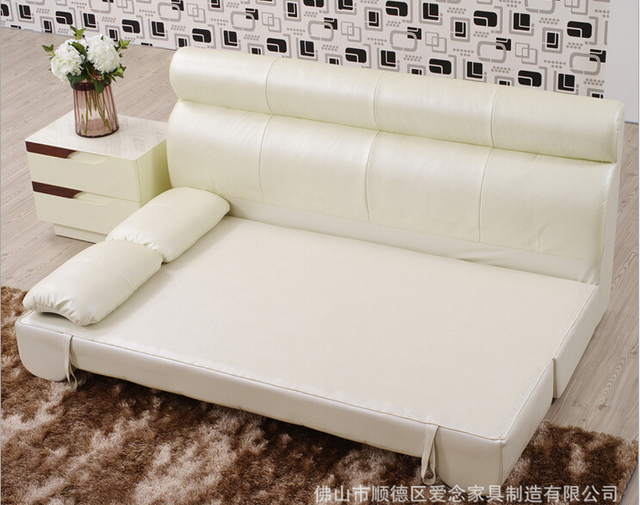 high quality  European living room multifunction leather sofa 4989 1
