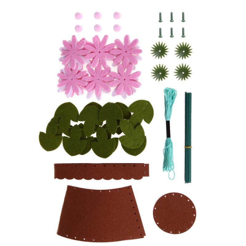 DIY Bouquets Button Flower Material Kit Paper Cord Children Handmade Art Craft Handwork Home Decor Kids Educational Toy Gift