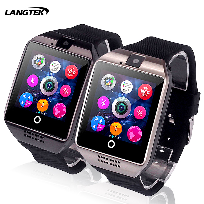 Bluetooth Q18 Smart Watch With Touch Screen Camera Passometer Support Tf Card Bluetooth Smartwatch For Android Ios Phone Wearable Devices