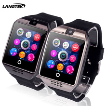 LANGTEK Q18 Passometer Smart watch with Touch Screen with camera support SIM TF card Bluetooth smartwatch