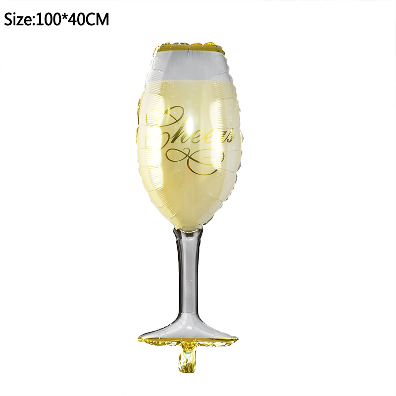 1pcs Foil Champagne Bottle/Beer Cup/Birthday Cake Balloons For Wedding Decorations 18