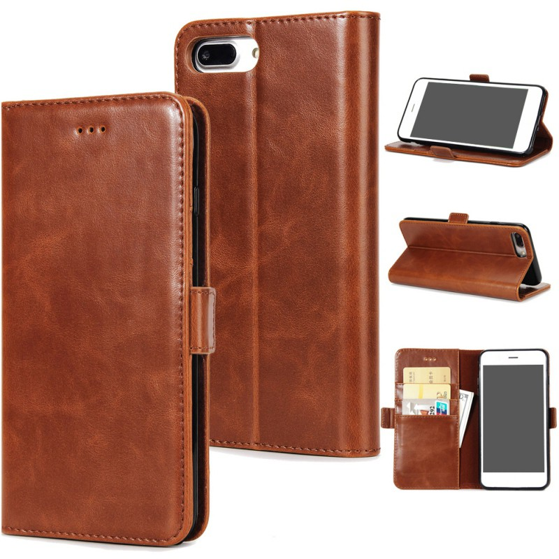 Luxury Leather Flip Card Wallet Phone Case Cover Stand for iPhone 6 6S 7 8 Plus X For For Samsung Note 8 S8 S8 Plus