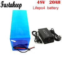 Share Long life cycle 48v 20ah LifePO4 battery pack for electric cars with BMS with BMS and 5A charger