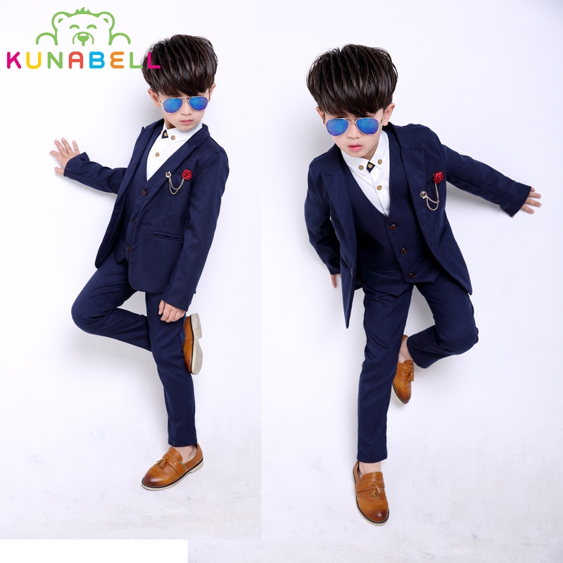 New Children Formal Prince Suit Baby Boys Suits Kids Blazer For Weddings Party Boys Clothes Set Jackets+Vest+Pants 3pcs B026 2016 new arrival fashion baby boys kids blazers boy suit for weddings prom formal wine red white dress wedding boy suits