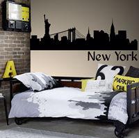 G152 뉴욕 스카이 라인 자유 벽 스티커 어린이 방 벽 스티커 아트 거실 비닐 아트 벽화 홈 장식