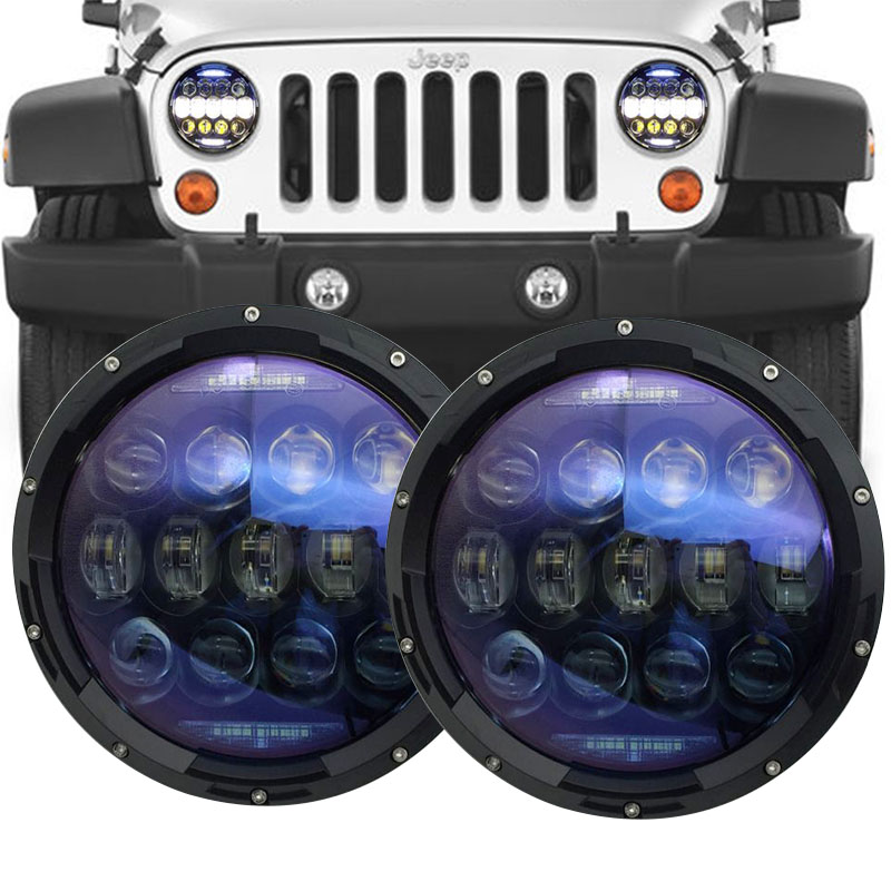 For Jeep Wrangler JK Accessories Round 7 inch led headlight 12V 24V LED Lamp for Hummer H1 H2 Land Rover Defender headlamp