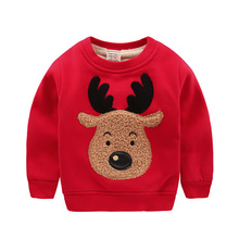 Autumn Winter Thick CamoFleece Boys Girls Hoodie Kids Long Sleeve Christmas Clothes Warm Clothing 4 Colors