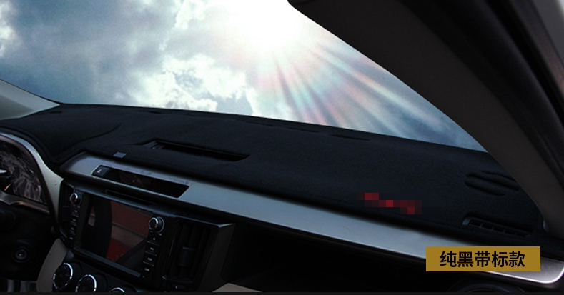 BLACK DASHBOARD COVER DASHMAT DASH MAT PAD SUN SHADE Fit For TOYOTA RAV4 2014-18