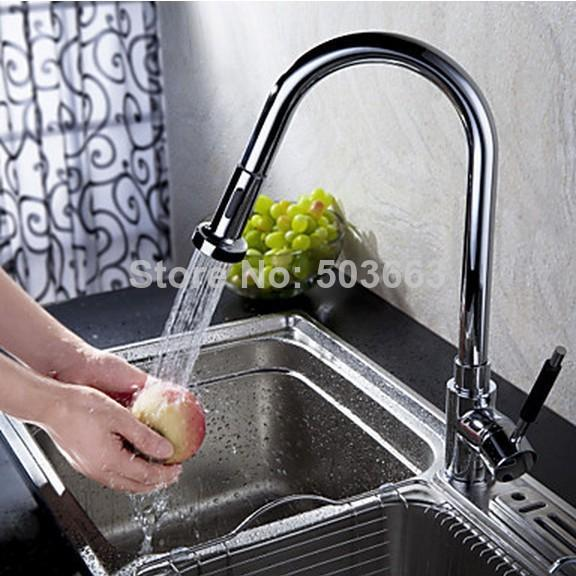 Good Best Price Pull Out UP& Down Sprayer Chrome Brass Water Tap ...