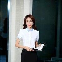 2017 Summer Formal OL Styles Blouses Shirts Short Sleeve Ladies Office Work Wear Business Women Tops