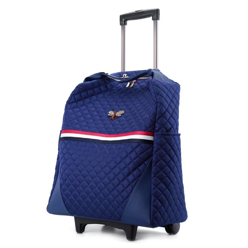 Aggressiv Neue Design Trolley Koffer Tasche Unten Jacke Große Kapazität Gepäck Tasche Licht Internat Trolley Fall Frauen Mode Koffer