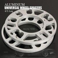 2 pçs 3/5/8/10mm liga de alumínio roda espaçadores calços placa 4 & 5 parafuso prisioneiro apto para audi frete grátis carro estilo|car-styling|car-styling audi|  -