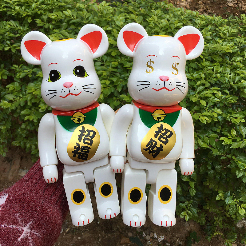 New Arrival 400% Bearbrick Cospaly $ Eye Fortune Lucky Cat Vinyl Doll Art Figure with retail boxNew Arrival 400% Bearbrick Cospaly $ Eye Fortune Lucky Cat Vinyl Doll Art Figure with retail box