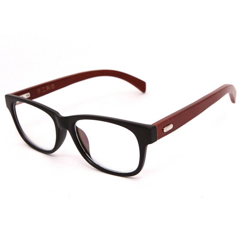 unique new arrivals handmade wooden glasses frames natural wood vintage eyeglasses frame clear lens for men