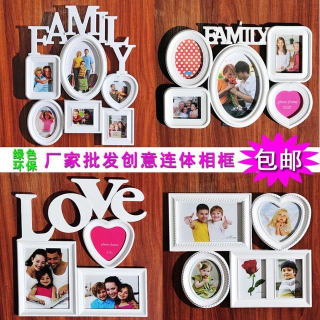 Europa estilo creativo familia marco de fotos combinación para pared ...