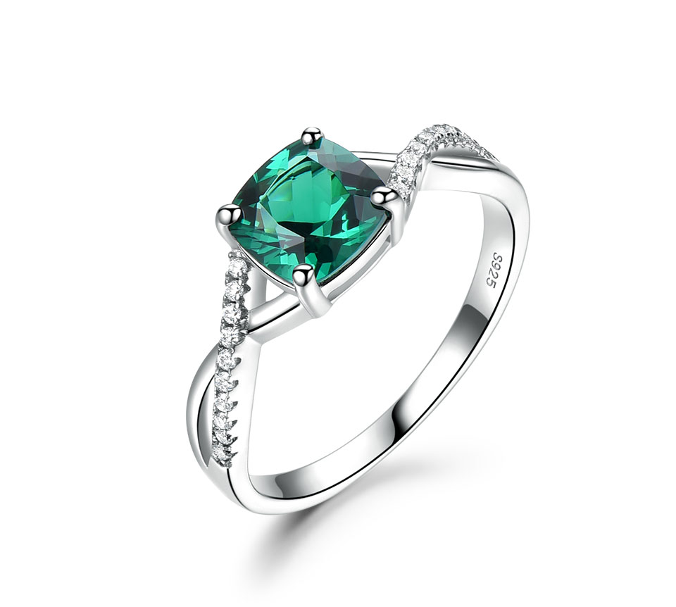 UMCHO Emerald 925 sterling silver jewelry sets for women S027E-1 pc (4)