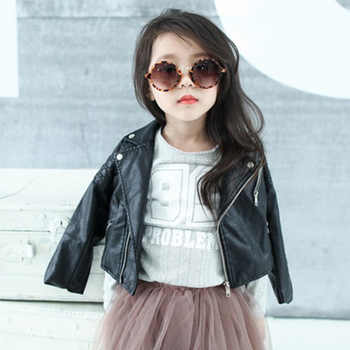 DreamShining Spring Kids Clothes PU Leather Girls Jackets Children Outwear For Baby Girls Boys Zipper Clothing Coats Costume - DISCOUNT ITEM  33% OFF All Category