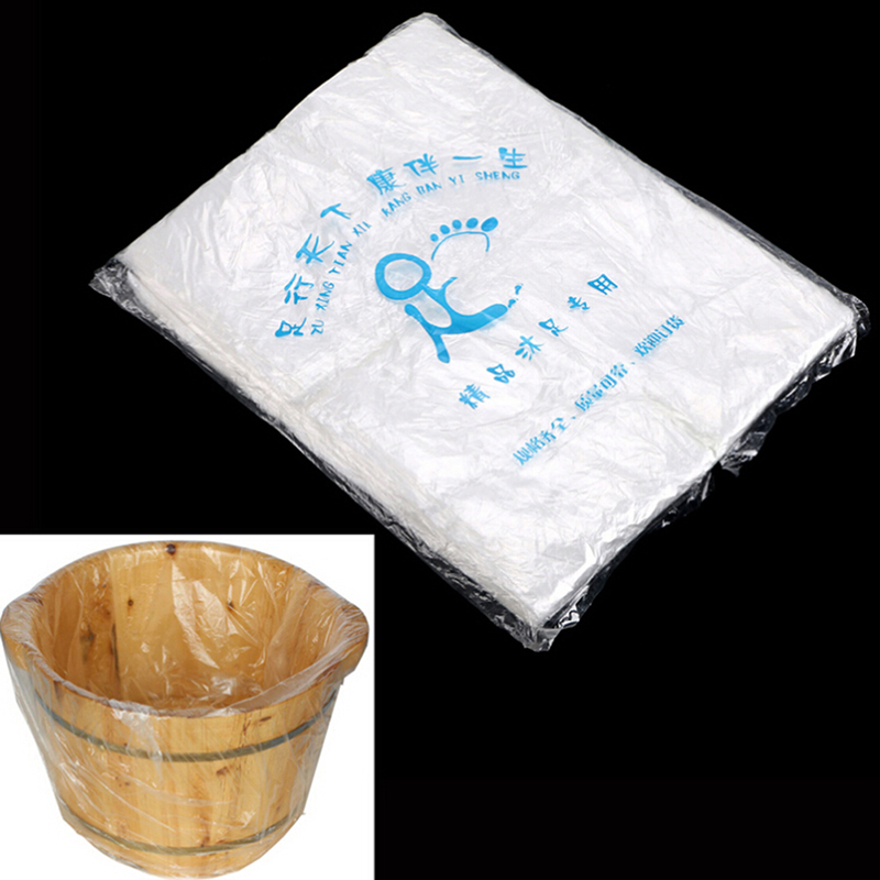 Disposable foot tub liners bath basin bags for foot for Liner pvc bassin