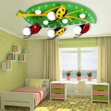 Holz Led Zellenentfernunglicht Kinder Decke Led-leuchten Wohnkultur Acryl Schatten Führte Unterputz 110 V-220 V E27 Kinderzimmer Lichter